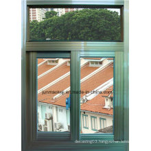 Aluminum Windows in Light Green Color