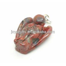 AAA Grade natürlichen roten Stein Engel Anhänger für Halskette