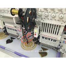 o tipo liso do bordado do tampão do sequin e a máquina automatizada 3D do funcionamento da operação do bordado