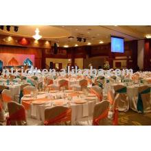 Cubiertas de la silla del satén, cubiertas de la silla de hotel, banquete, boda, marco del satén