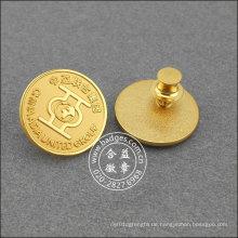 Gold Plated Runde Anstecknadel, organisatorische Abzeichen (GZHY-LP-017)