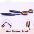 فرشاة الأسنان نمط الوجه تنظيف فرشاة ماكياج البيضاوي واحد