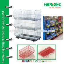 retail stackable wire basket display