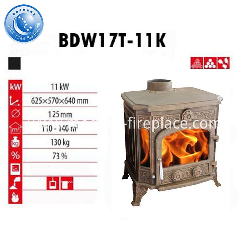 11KW Cast Iron Wood Burning Stoves