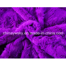 100% Polyester PV Fleece mit Rose Designs