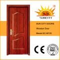 Diseños de la sola puerta de madera de la fábrica de la fábrica de China (SC-W120)