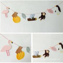 OEM Colorful Animal Design Paper Garland for Hang Decoration