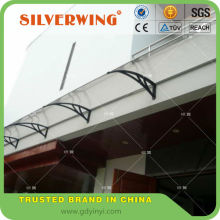 Modern used large canopy with plastic awnings material for balcony canopies or door awnings