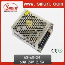 60W 24VDC 2.5A Alimentação de modo de comutação (SMPS) as-60-24