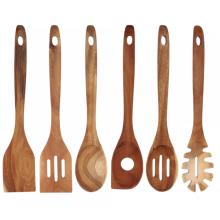 Juego de utensilios de cocina de madera.