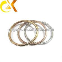 Brazalete hueco 3pcs del acero inoxidable para el sistema con el oro y el chapado en oro color de rosa