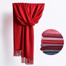 2017 Winter Warm Long Fleece Scarf Women Plain Solid Fleece Scarf with Tassels