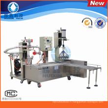Machine de remplissage liquide semi-automatique avec capsulage