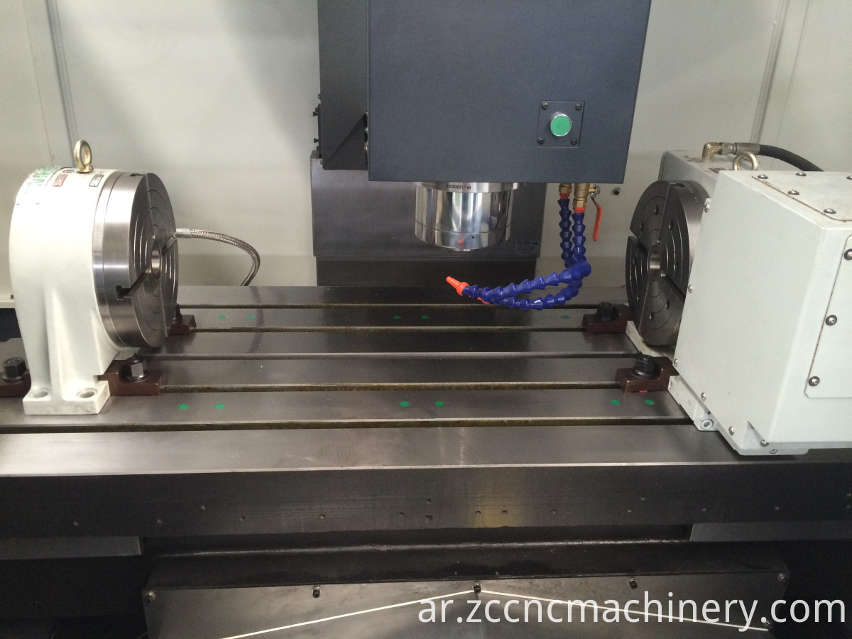 Vmc Machine With 4th Axis