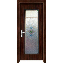 Steel Wooden Door with Glass