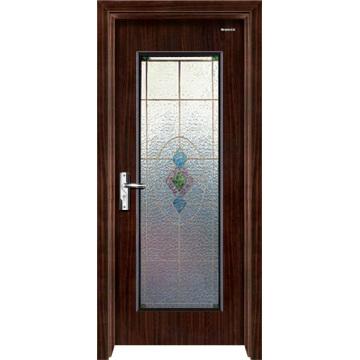 Steel Wooden Door with Glass