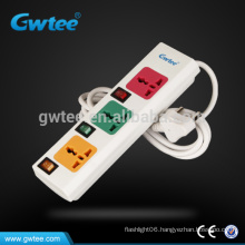2016 newest 3 way outlet universal usb power strip with overload protection
