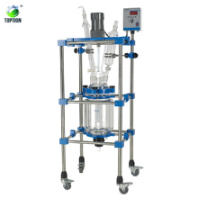 High quality 100L glass lab equipment/glass lining in process vessels/three layer glass reactor