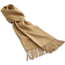 Fashion Cashmere Knitted Fringed Scarf in Plain Color (YKY4333-2)