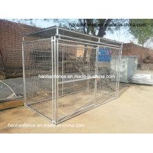 10-футовый длинный металлический верхний крытый свариваемый ящик для собак с собакой