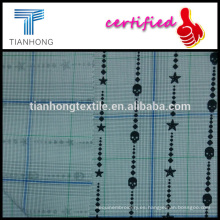 Super personal impresión de cheque cuadros hilados teñidos popelina de algodón tejido tela mediados 150gsm finos para camisa