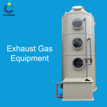 Industrial exhaust gas scrubber---washing tower