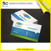 Fashionable design transparent plastic transparent business card