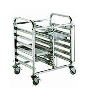 Metal hotel service dinner trolley with wheel