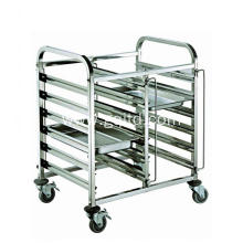 Restaurant stainless steel dinner trolley with wheel