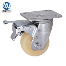 Ruedas industriales de 100 mm con freno