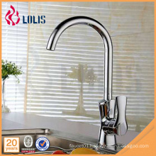 New products chrome single lever long neck flexible kitchen faucet