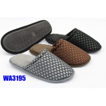 Men's Solid Grid Mesh Binding Indoor Slippers