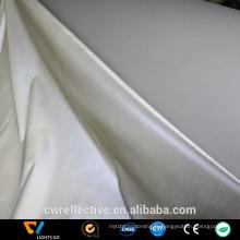 Tissu à tricoter réfléchissant élastique argenté simple face argenté
