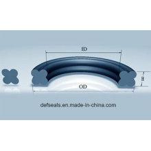 FKM / PTFE / NBR Quad-Ringdichtung / X-Ring