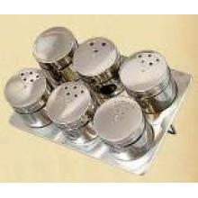 Porta-condimentos magnético aço inoxidável (CL1Z-J0604 - 6H)