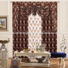 Material de poliéster de lujo y cortinas estilo jacquard