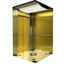 Beautiful Designed Titanium Plated Finish Elevator MRL
