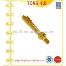 Oro grabado ronda de logotipo de metal Tie clips de fábrica para los accesorios de Tie