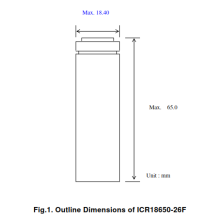 Samsung ICR18650-26F Genuine Flat