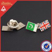 Classic flag brooch pin