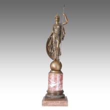 Mythologie Figur antike Statue Athena Bronze Skulptur TPE-269