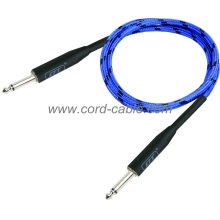 DBS Series Instrument Guitar Cable Jack to Jack Blue Braided