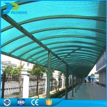 Chepest coating UV polycarbonate hollow sheet bus shelter