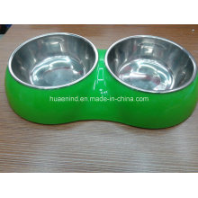 Double Pet Bowl, Dog Feeding Bowl