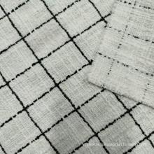 Boucle style fashion tartan design fabric