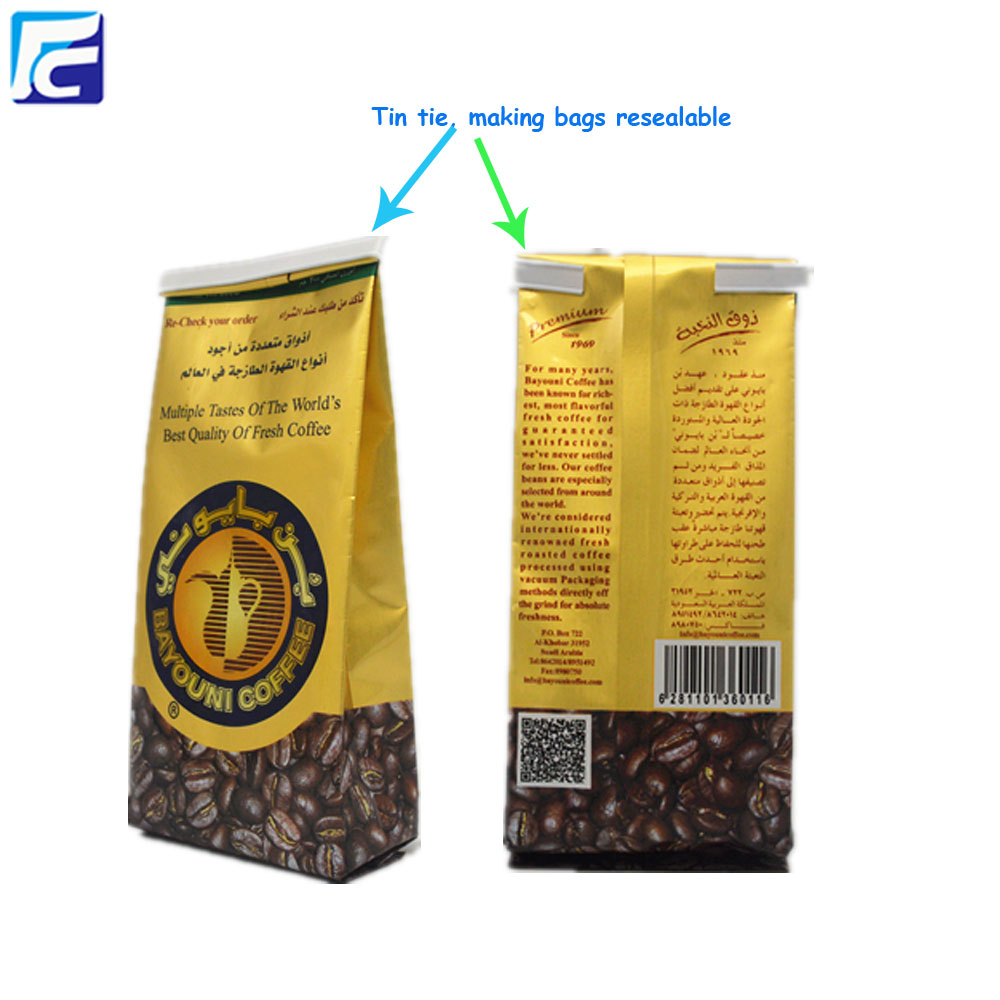 Tin Tie Coffee Bag