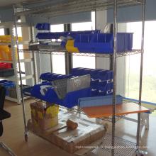 rayonnage de fil de chrome / étagère de stockage de devoir léger / étagère de fil de chrome domestique