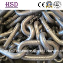 Cadena de enlace largo galvanizado, DIN766, Cadena de enlace largo común, tipo inglés