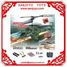 Proyecto de control remoto 9030 un misil !! Helicóptero giroscópico 3.5CH