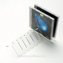 Présentoir à CD en acrylique transparent